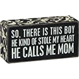 Primitives by Kathy Box Sign, Calls Me Mom, 2.5 by 5-Inch