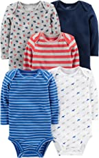 Simple Joys por Carter 's Baby Boys 5-Pack Body de Manga Larga