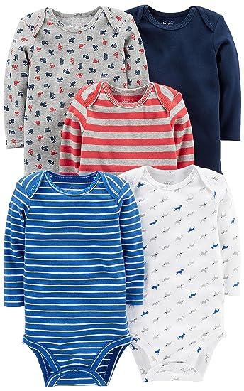 Simple Joys by Carters Baby Boys 5-Pack Long-Sleeve Bodysuit