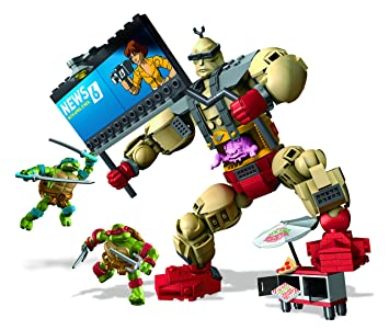 Mega Bloks - Krang Malvado, Tortugas Ninja, Juego de construcción (Mattel DMW32)