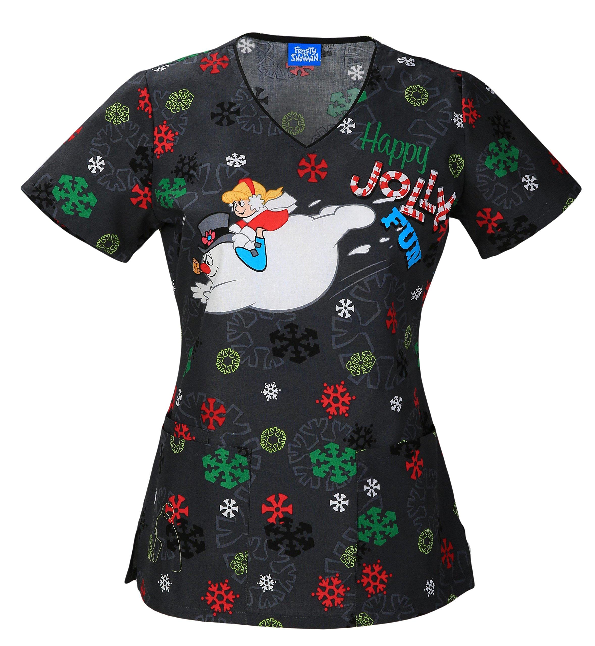 Tooniforms V-Neck Top | Jolly Frosty Fun Size XL