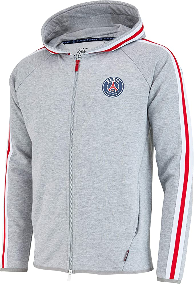 paris saint germain jacke weiß kapuze