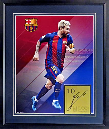 online store eb36c 40a71 FC Barcelona Lionel Messi Poster Display (SGA Signature ...