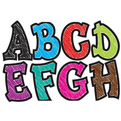 Ashley Productions Designer Magnetic Letters, Assorted Colors: Toys & Games