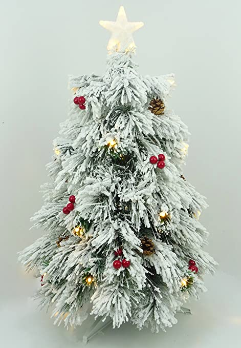 Christmas Concepts® 3ft (90cm) Pre Lit Snow Frosted Fibre Optic Pine Christmas  Tree - Christmas Concepts® 3ft (90cm) Pre Lit Snow Frosted Fibre Optic Pine