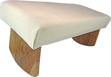 Amazon.com: Banco de meditación- madera de acacia ...
