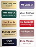 "Custom Name Badges / Name Tags - 1.5"" x 3"" - Up to three lines of text - Pin Backing"