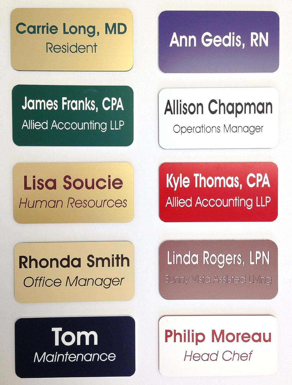 amazon com custom name badges name tags 1 5 x 3 up to