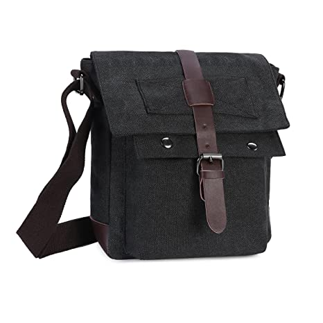 0bbf65348e Wowelife Canvas Messenger Bag Small Vintage Canvas Shoulder Bag Tactical  Military Crossbody Pack for Daily Use