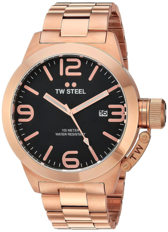 TW Steel Men s CB172 Analog Display Quartz Rose Gold Watch