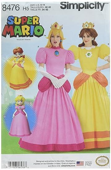 Damen Super Mario Prinzessinnen Kostüme | 6–14 | Simplicity ...