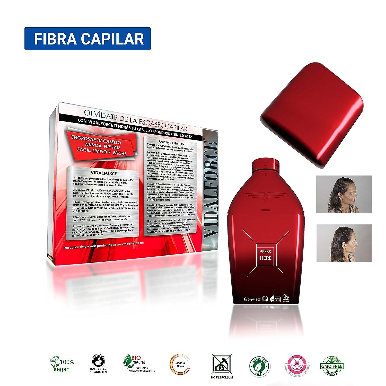 Fibras Capilares /Castaño Oscuro 25G/Naturales Testadas Y Hechas En España Engrosa tu cabello en segundos Con Nuevo Envase Que Aplica La Fibra Sin Agitar Y ...