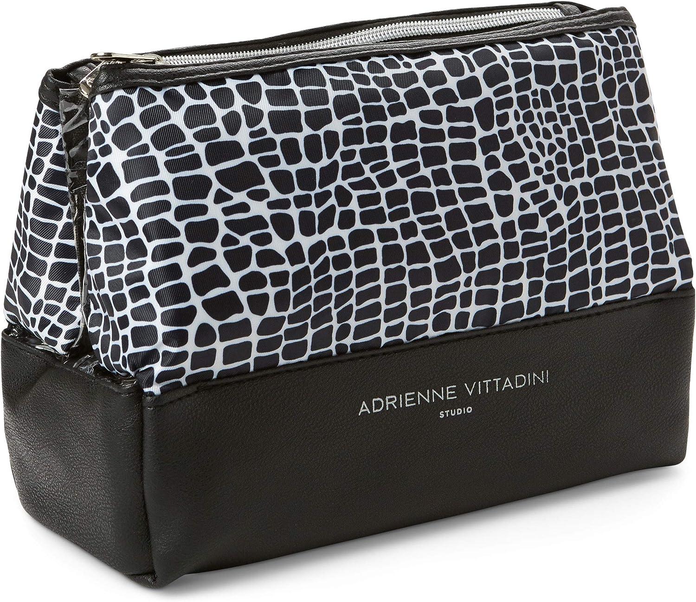 Tri-Coastal DesignAdrienne Vittadini - Neceser de viaje compacto, diseño de cocodrilo blanco y negro, , , ,, 1.00[set de ]: Amazon.es: Belleza