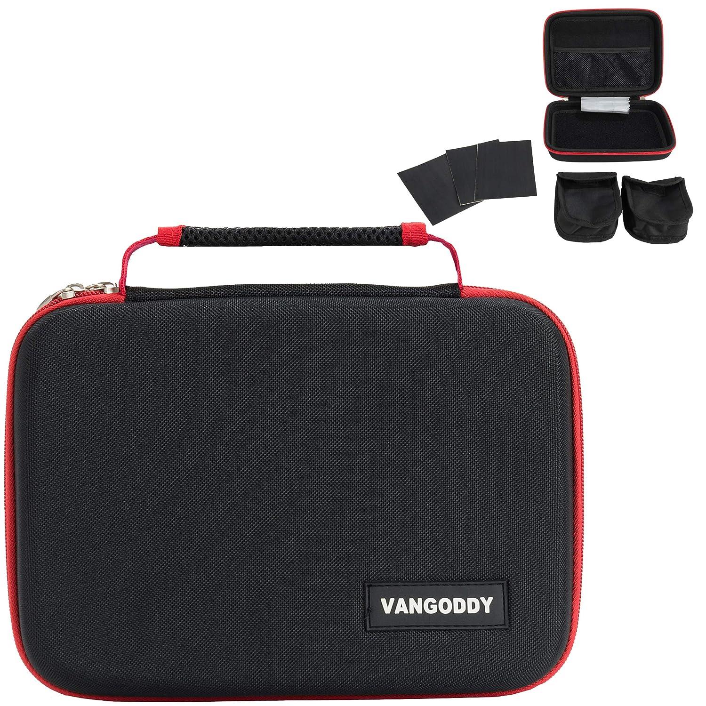 VanGoddy Black Red Hard Shell Carrying Case Suitable for LG Portable HD LED Projector PH150B PH150G MiniBeam PH30JG PH550 PV150G