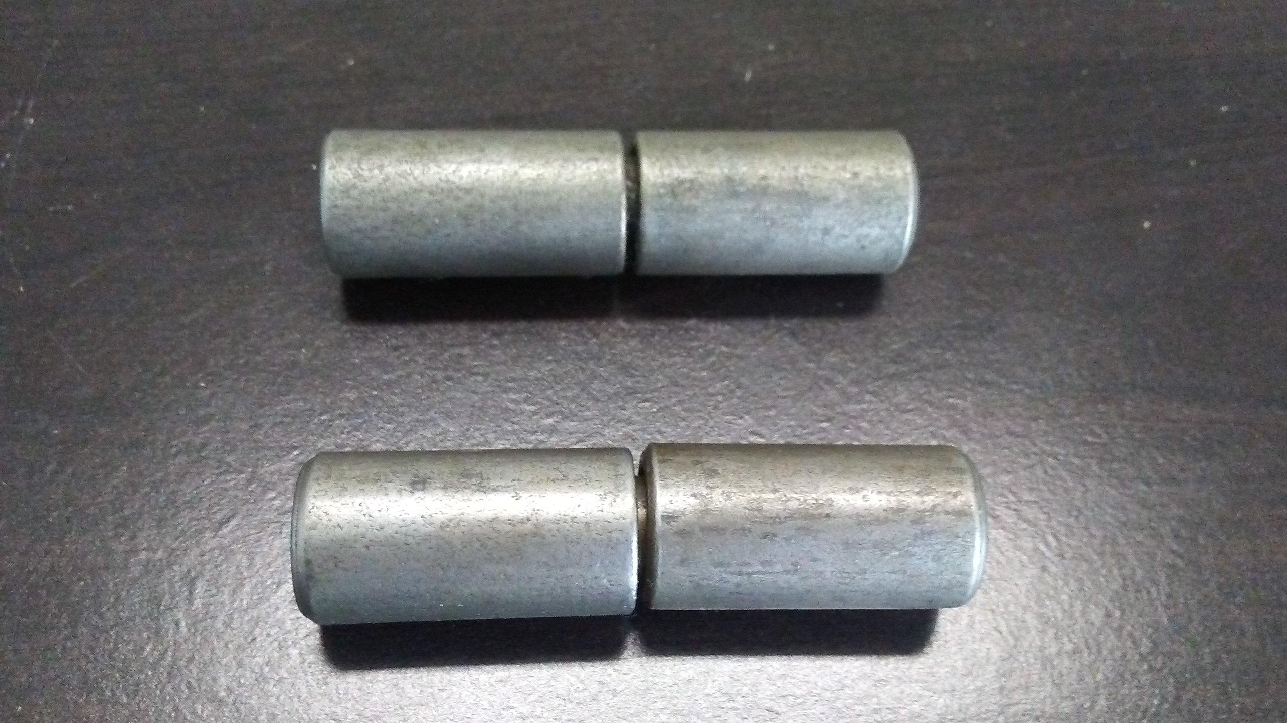 Pair of 3'' Steel Barrel Hinges