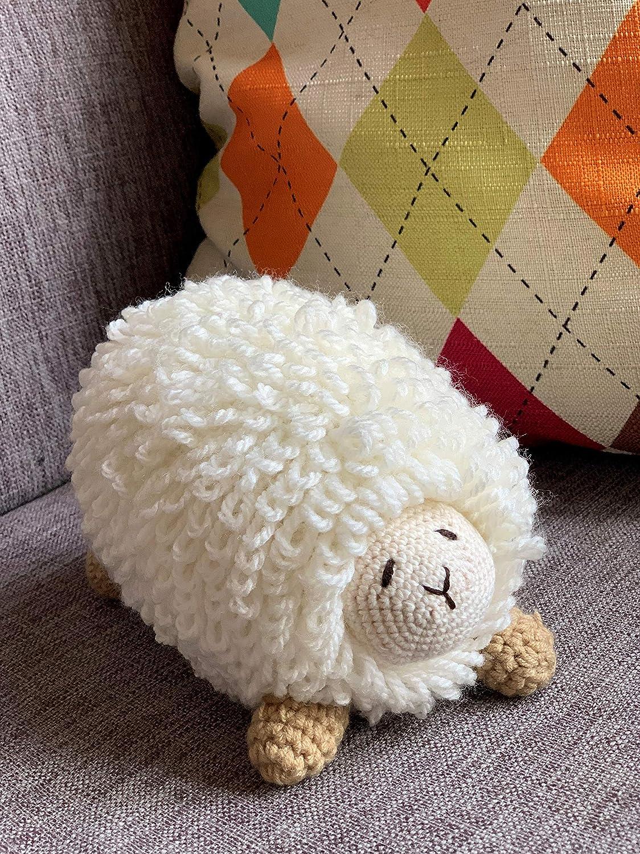 Handmade Sheep Plush Soft Crocheted Stuffed Toys Handsewn Baby Gifts Home decor Lamb Christmas Gifts