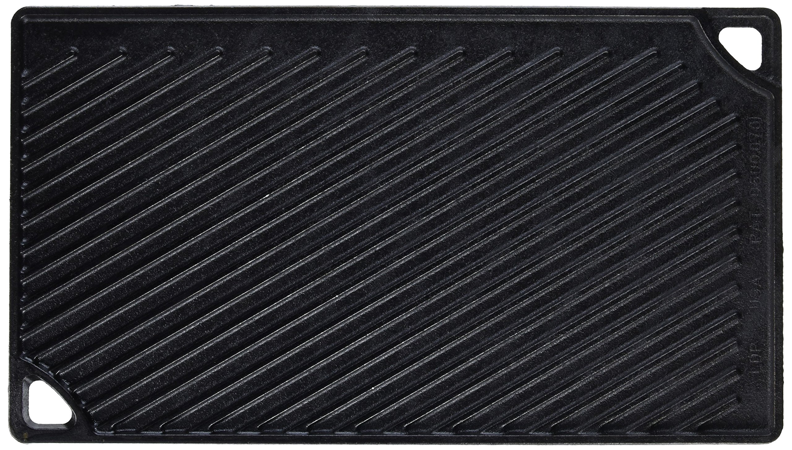 Lodge Reversible Grill and Griddle Combo. Double-Sided Cast Iron Pan with Smooth Side and Ribbed Side. by Lodge (Image #2)