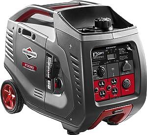 Briggs & Stratton P3000 PowerSmart Series Inverter Generator with LCD Display and Quiet Power Technology, 3000 Starting Watts 2600 Running Watts, RV Ready