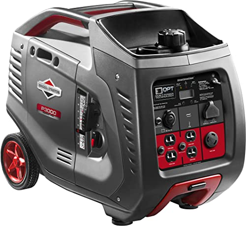Briggs & Stratton P3000 Power Smart Series Inverter Generator with LCD Display and Quiet Power Technology