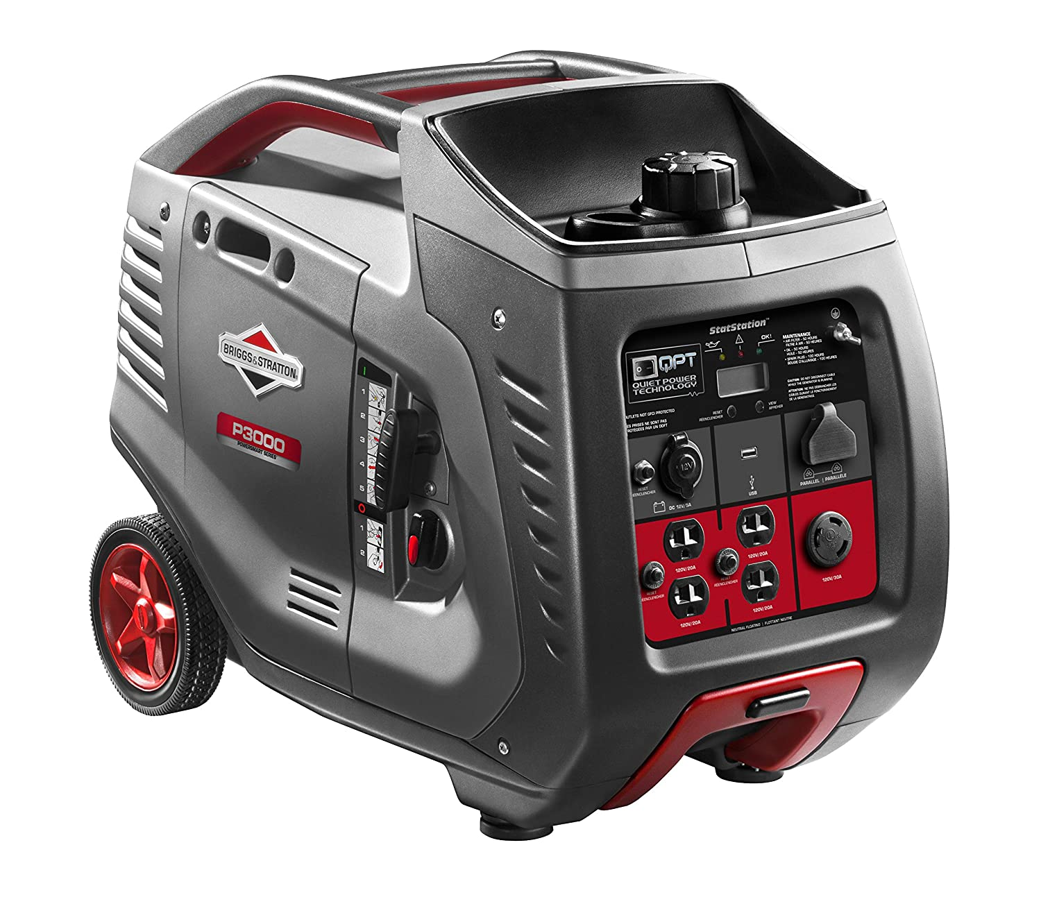 Amazon.com : Briggs & Stratton 30545 P3000 PowerSmart Series Portable  3000-Watt Inverter Generator with (4) 120-Volt AC Outlets and (1) 12-Volt  DC Outlet ...