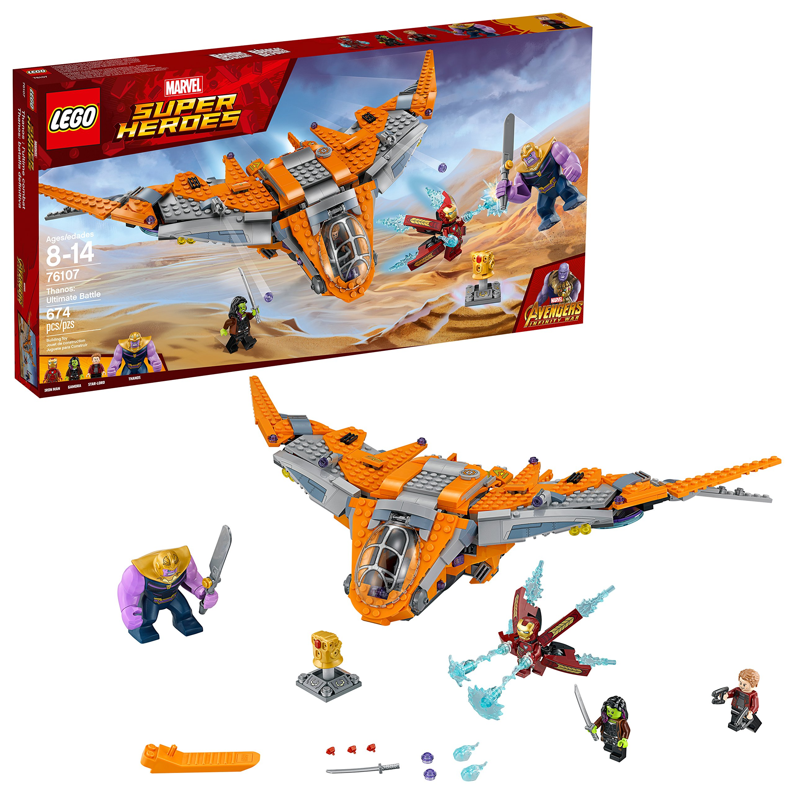 LEGO Marvel Super Heroes Avengers: Infinity War Thanos: Ultimate Battle 76107 Guardians of the Galaxy Starship Action Construction Toy and Building Kit for Kids (674 Piece) by LEGO