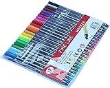 24 Fineliner Colouring Pens Set Fine Point Pens 0.4mm Assorted Colours, Fineliners Coloured Pens
