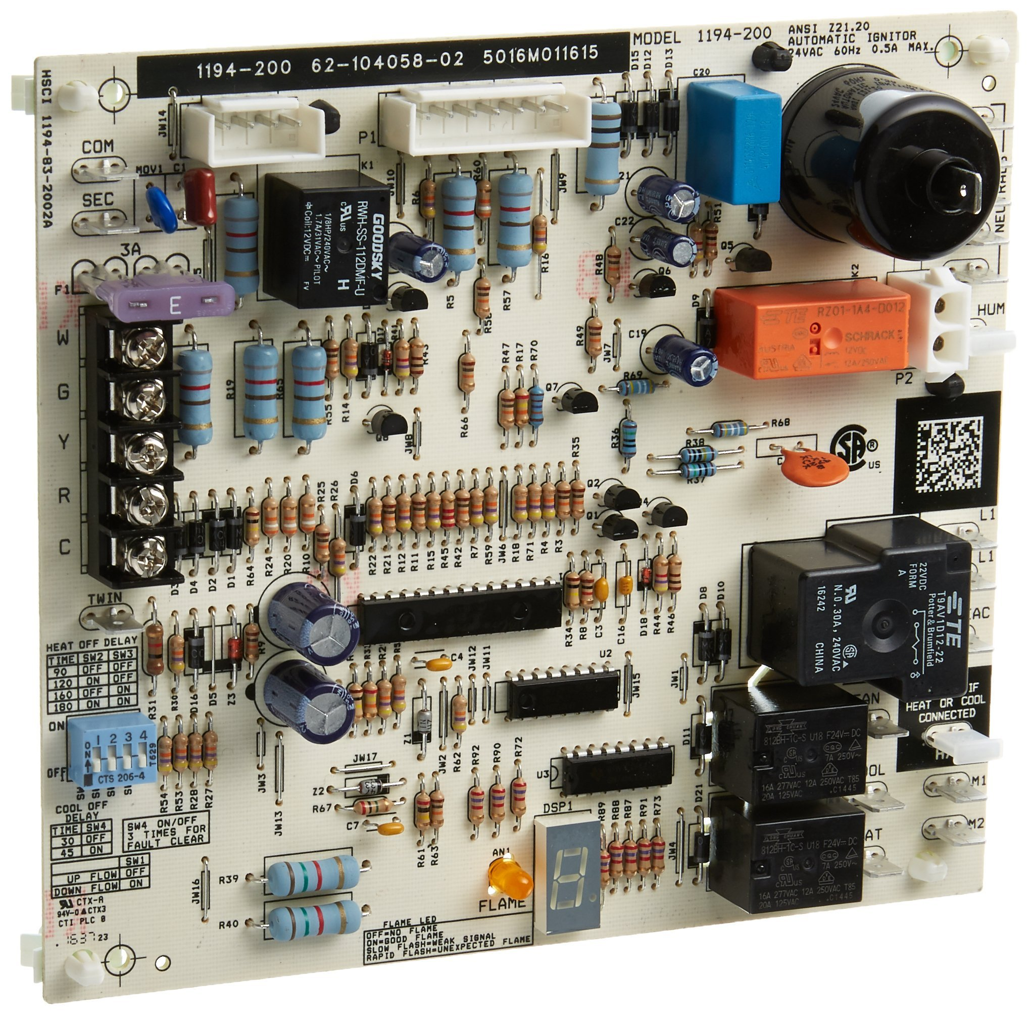 Protech 62-104058-02 Integrated Furnace Control Board