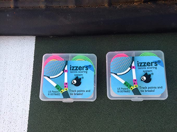Amazon.com : izzers Tennis Score Keeper, Mark & See Score Easily, 2-Pack, Blue/Green/Yellow : Sports & Outdoors