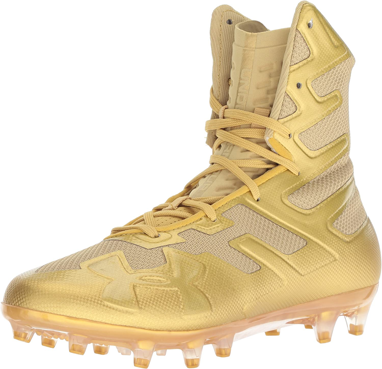 Under Armour Men's Highlight MC Football Shoe, (900)/Metallic ゴールド, 10