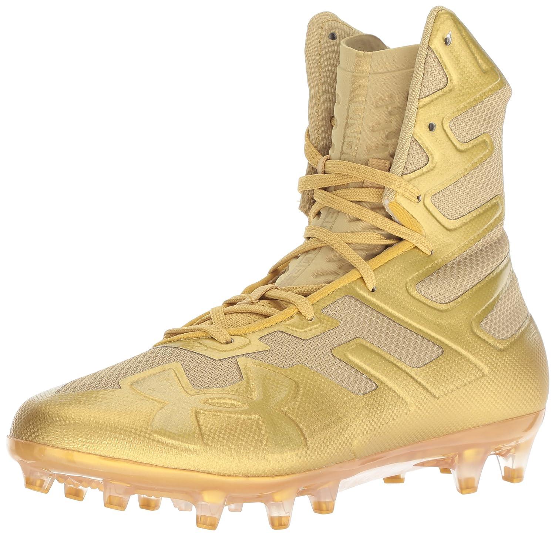 Under Armour Men's Highlight MC Football Shoe, (900)/Metallic ゴールド, 8.5