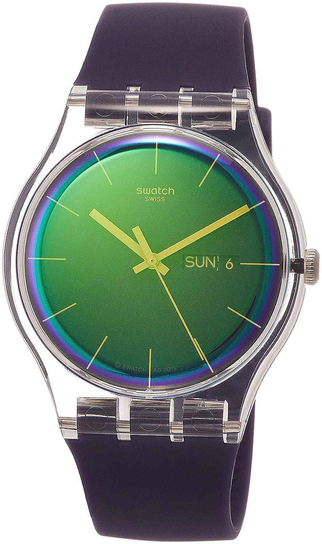 Swatch Reloj Analógico para Mujer de Cuarzo con Correa en Silicona ...