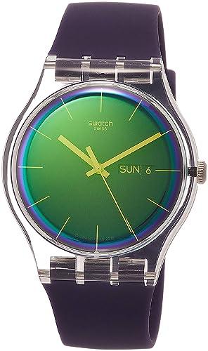 Swatch Reloj Analógico para Mujer de Cuarzo con Correa en Silicona SUOK712: Amazon.es: Relojes