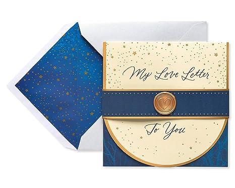 Amazon.com: Sentimental carta de amor Tarjeta del día del ...