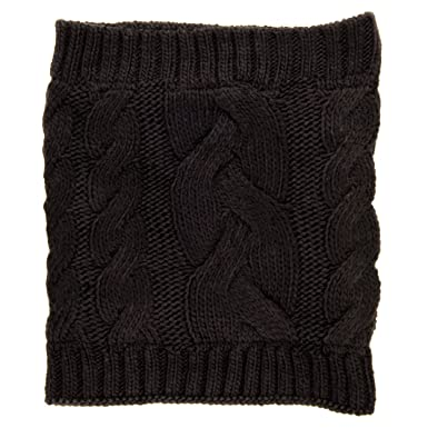 Noble Mount Mens Cable Knit Toaster Snood Scarf Black At Amazon