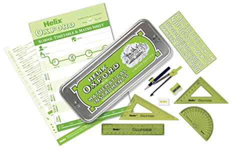 Helix Oxford Colours Maths Set - Green
