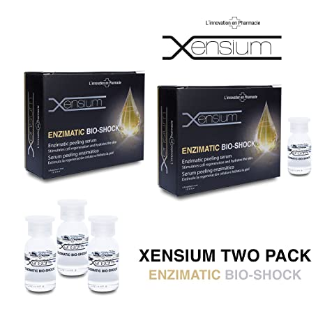 XENSIUM Bio-shock Enzimatic 4 ampollas x 3 ml Pack de 2 Uds: Amazon ...