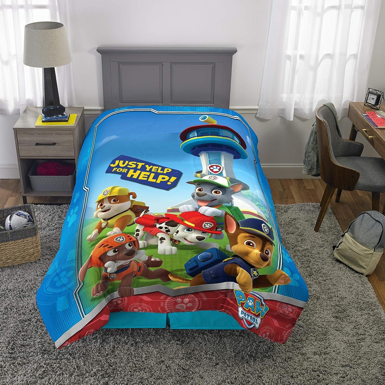 "Franco Kids Bedding Super Soft Microfiber Comforter, Twin Size 64"" x 86"", Paw Patrol"