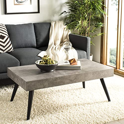 Safavieh Home Cedric Modern Light Grey and Black Coffee Table