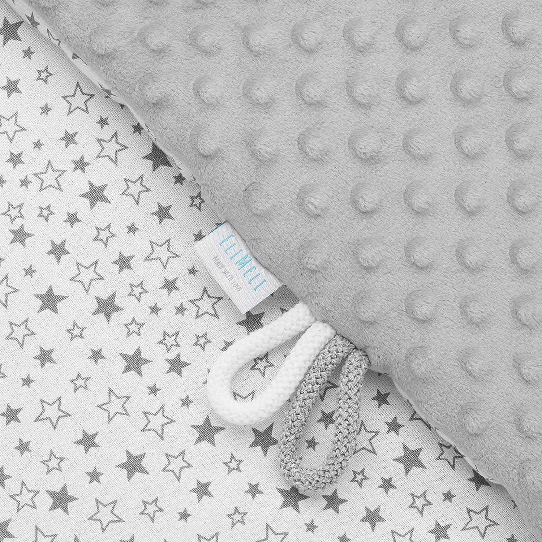 dise/ño de puntos EliMeli Minky Manta para beb/é color turquesa forro polar, algod/ón, 75 x 100 cm