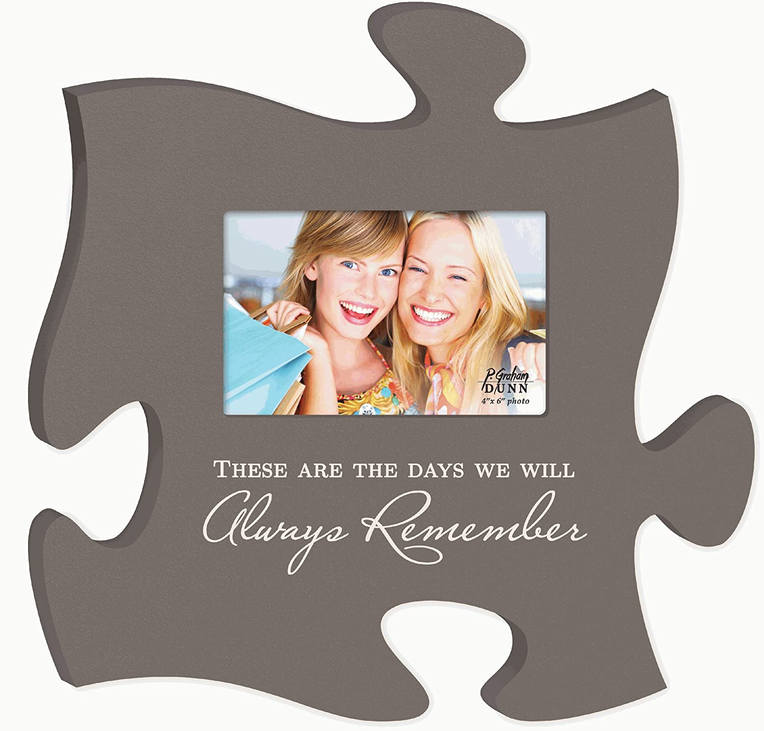 Amazon.com: These Are The Days Puzzle Piece Hanging Picture Frame ...