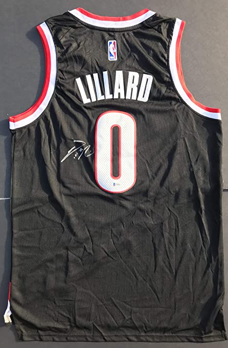 best loved f81bc f5e20 DAME DOLLA!!! Damian Lillard Signed PORTLAND BLAZERS Nike ...