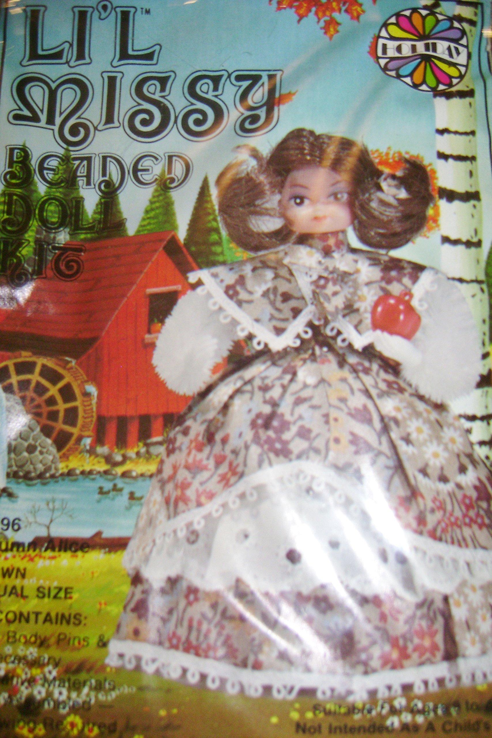 Vintage Walco Li'l Missy Autumn Alice Beaded Doll Kit #13396 by Lil Missy (Image #1)