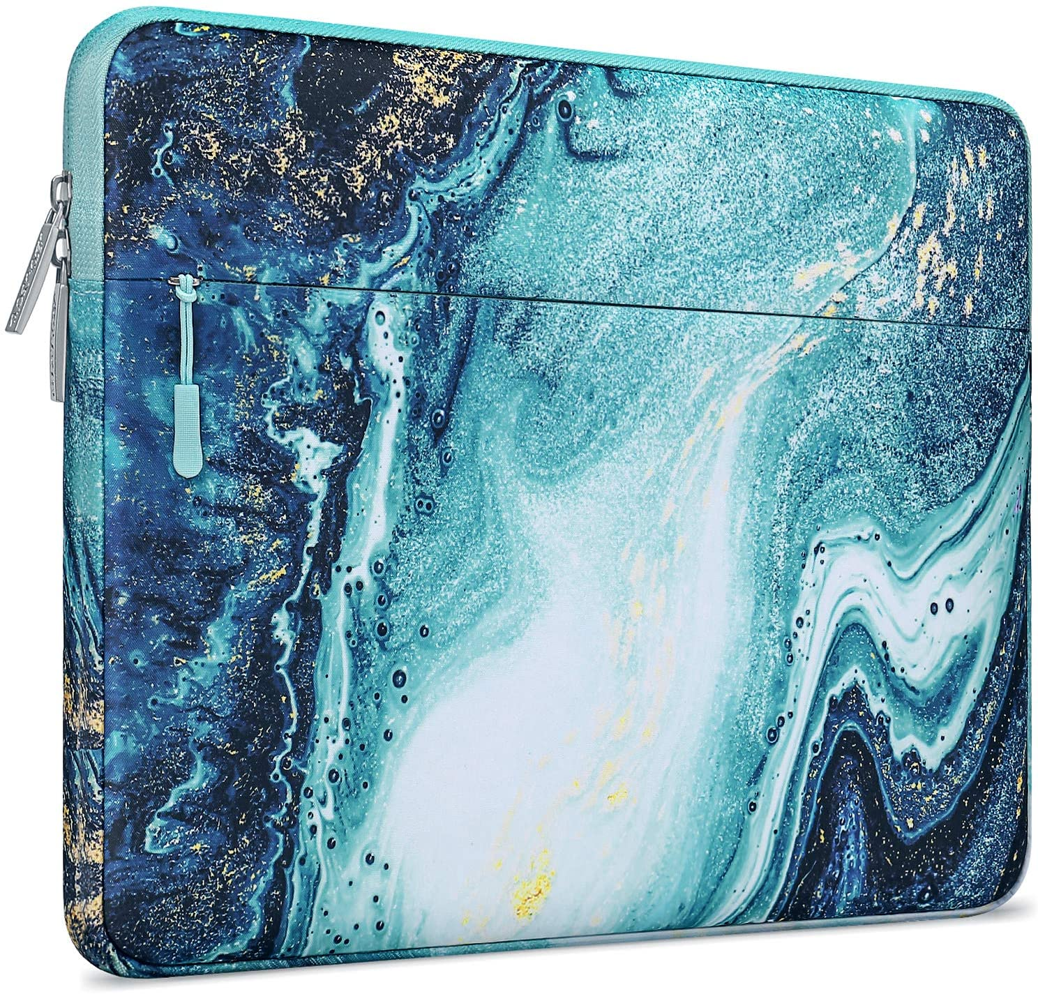 MOSISO Laptop Sleeve Compatible with 13-13.3 inch MacBook Pro, MacBook Air, Notebook Computer, Polyester Horizontal Creative Wave Marble Bag