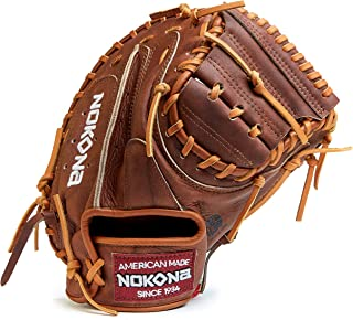 product image for Nokona W-3350C Handcrafted Walnut Baseball Catcher's Glove - Closed Web, Adult 33.5 Inch Mitt, Made in The USA