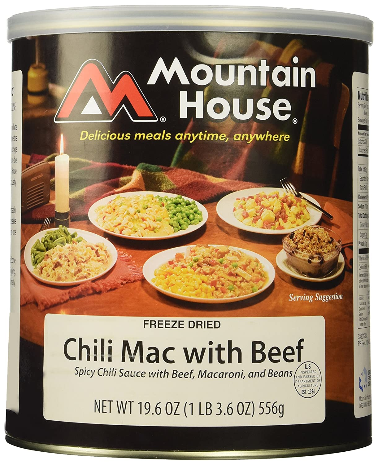 Mountain House #10 CAN Chili Mac with Beef Oregon Freeze Dry 0030128