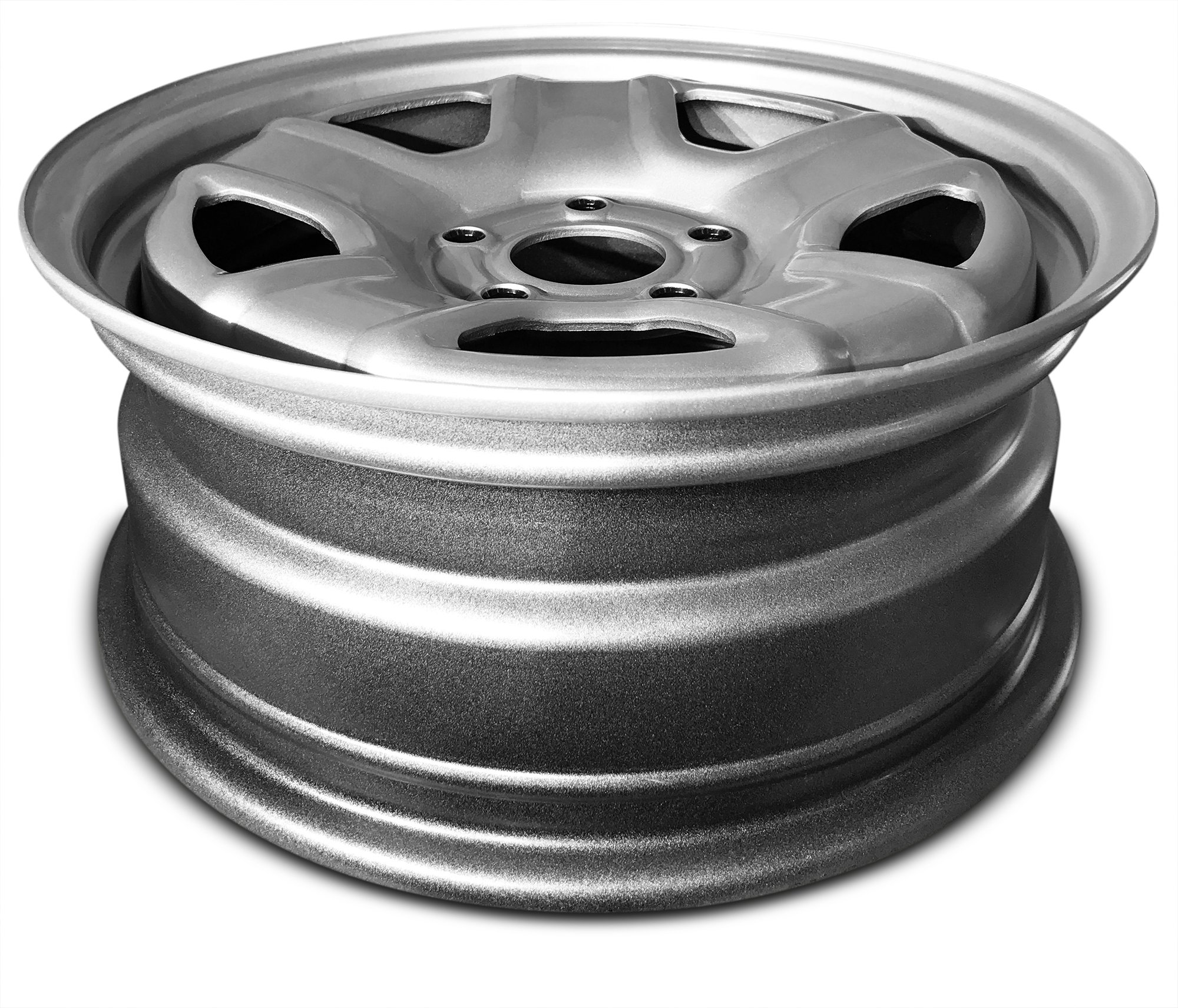 New 16 Inch Jeep Patriot Compass 5 Lug Silver Replacement Steel Wheel Rim 16x6.5 Inch 5 Lug 67.1mm Center Bore 40mm Offset WAA by Road Ready Wheels (Image #5)