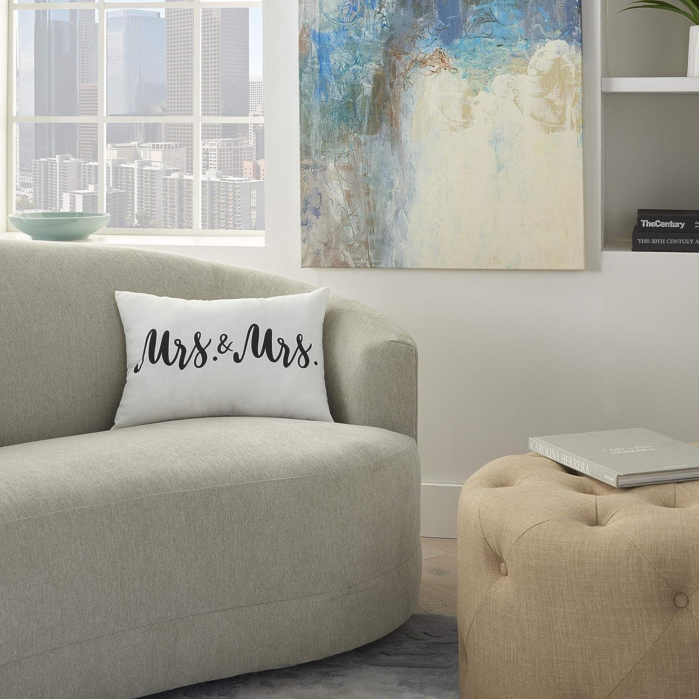 """kathy ireland Home Kathy Ireland Pillow 14"""" x 20"""", 14""""X20"""", White"""