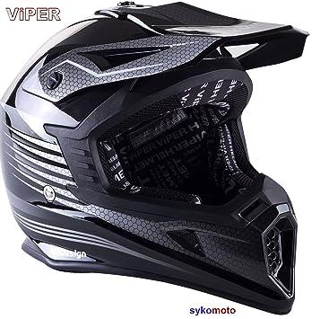 VIPER RS X95 MOTOCROSS MOTO QUAD ATV DIRT ENDURO OFF ROAD DEPORTE CARRERAS MOTO CASCO NEGRO