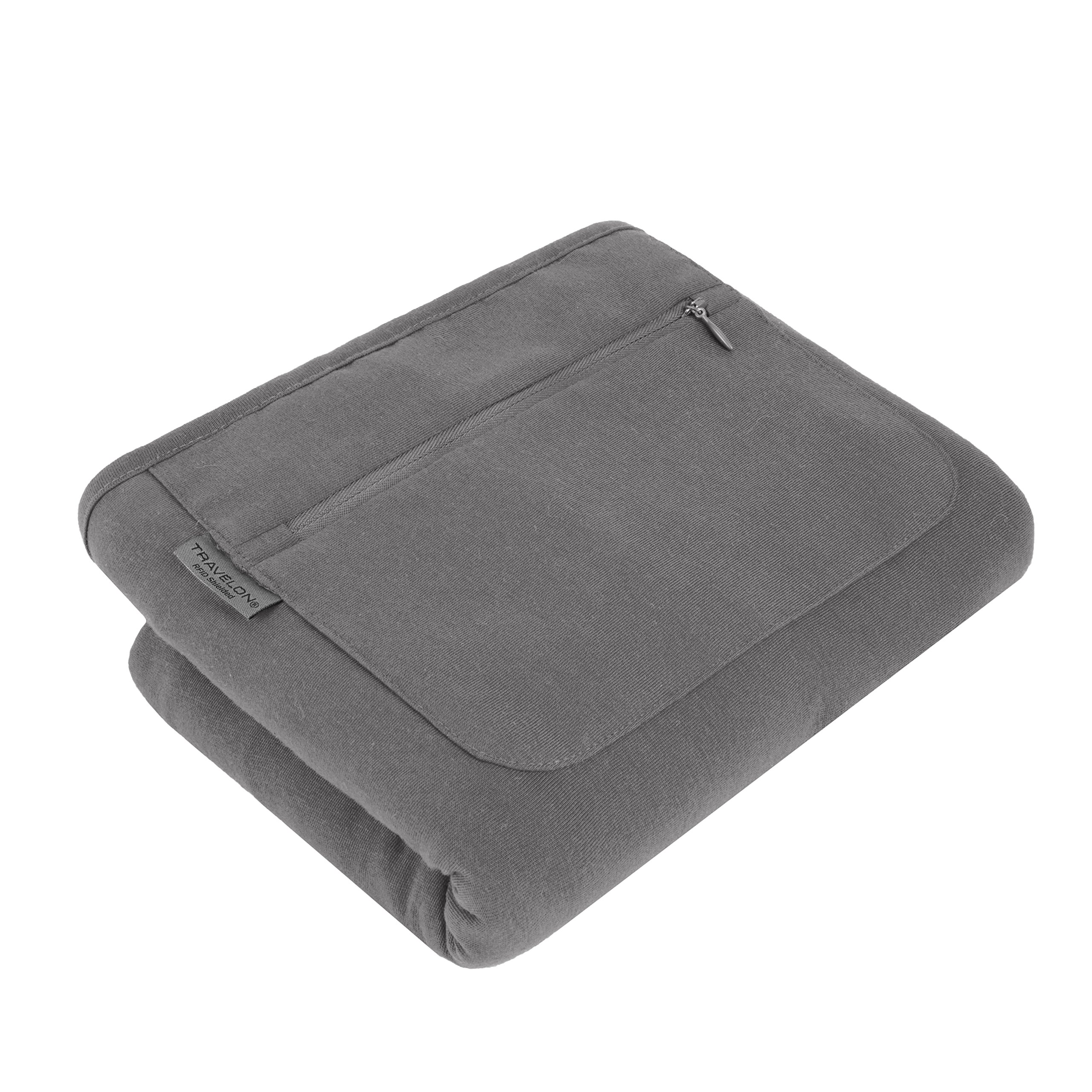 Travelon Scarf/Wrap with Rfid Blocking Travel Purse, Gray, One Size