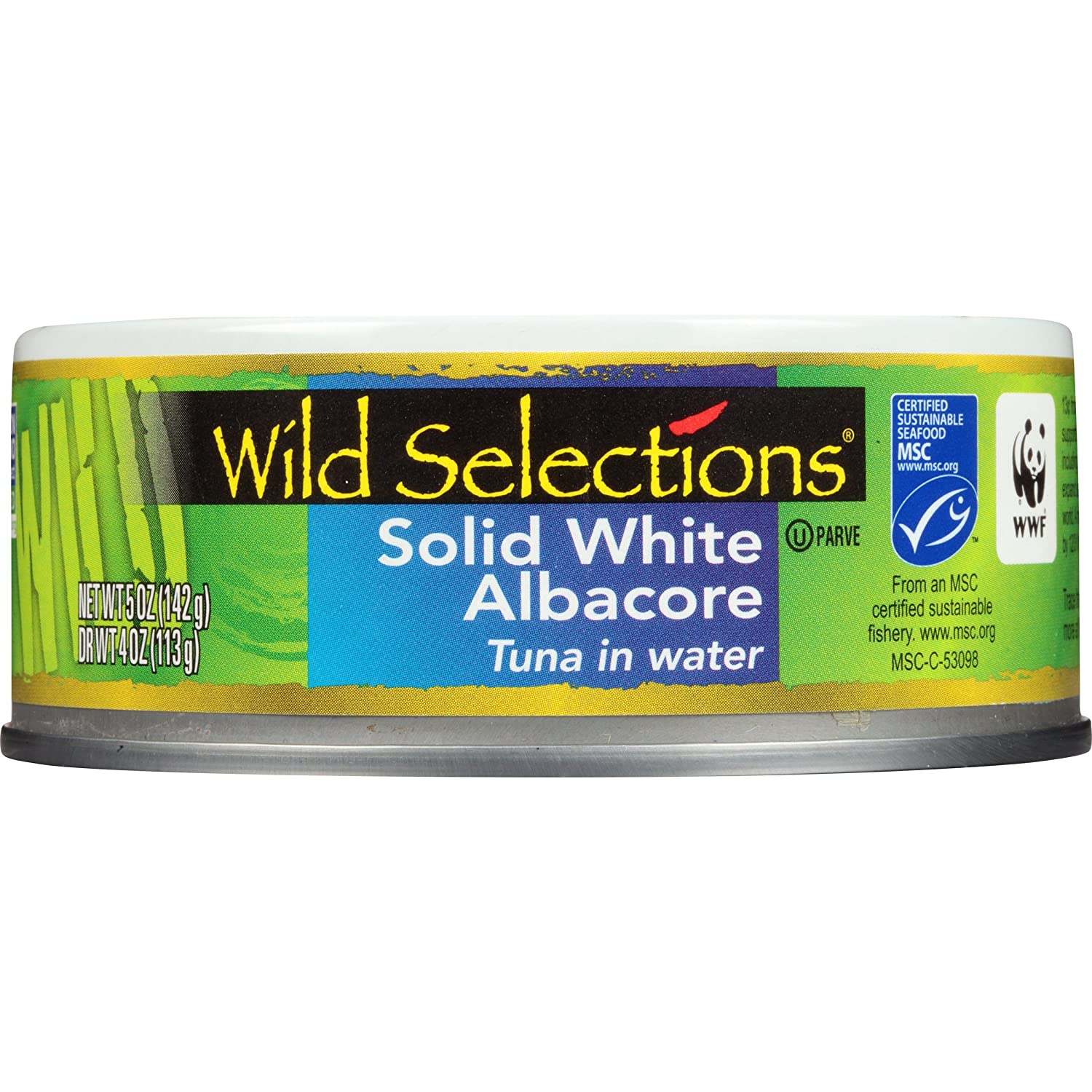 wild selections solid white albacore tuna in water ounce can wild selections solid white albacore tuna in water 5 ounce can pack of 4 com grocery gourmet food